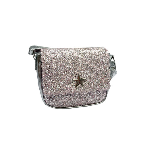 Pink sparkly party bag Xbody