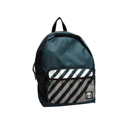 Front mesh pocket nylon backpack