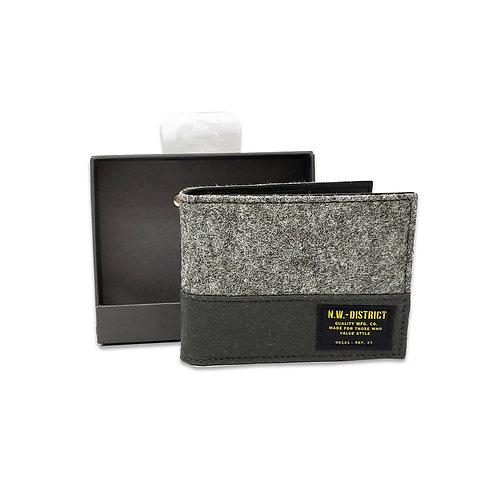 Felting colour block wallet