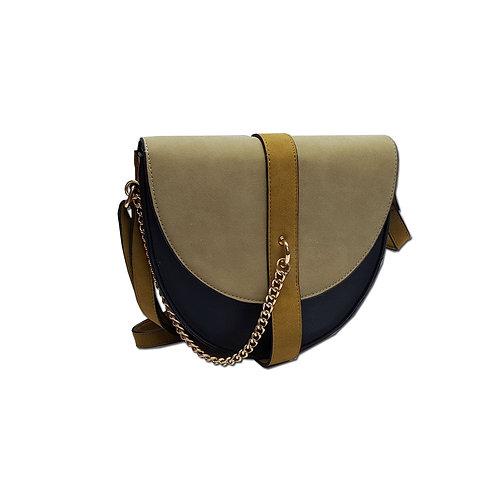 Chain detail saddle bag