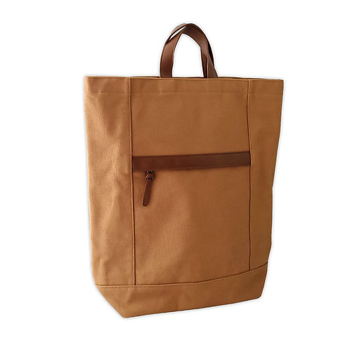 Canvas tote shape backpack