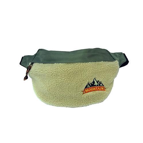 Fleece colour block bum bag