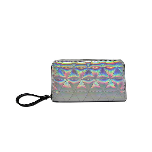 Quilted hologram wallet