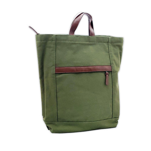 Canvas tote backpack