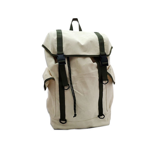 Organic cotton utility backpack