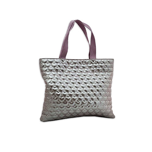 Heart quilted shopper