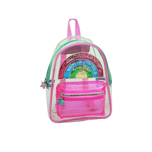 Jelly trapped rainbow backpack