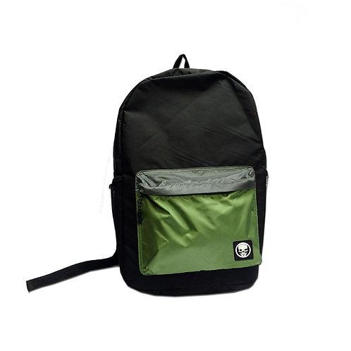 Nylon colour block backpack