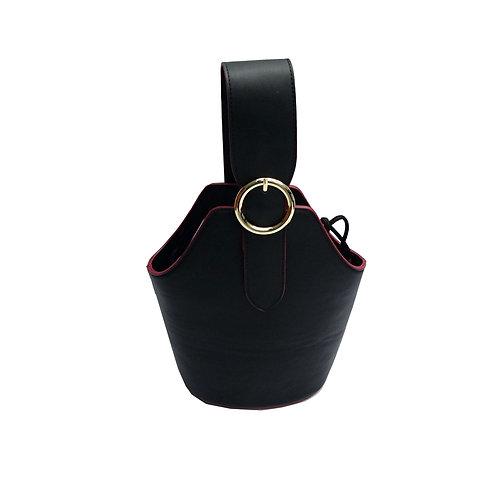 Top handle buckle bag