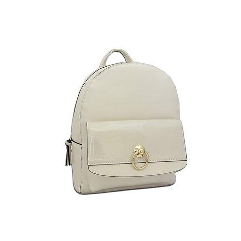 Circle metal trim backpack