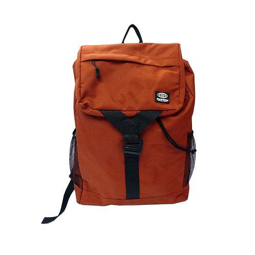 Flap zip pocket backpack