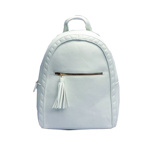 Twist quilted edge backpack