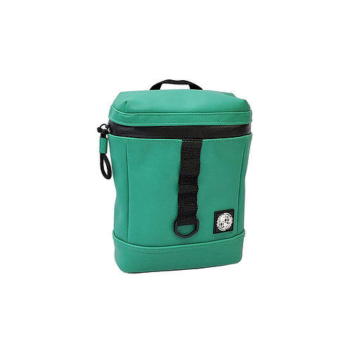 Wet look fusebox man bag