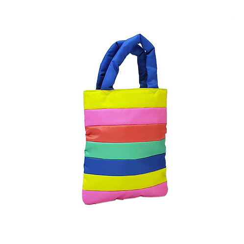 Colour quilted tote
