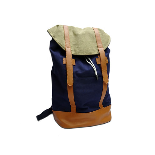 Large canvas satchel backpack