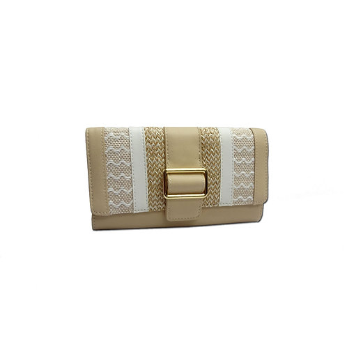 Mix fabric wallet