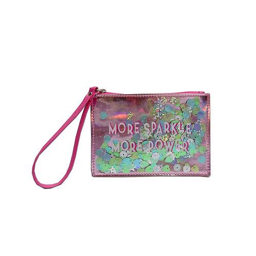 Sparkle zip purse