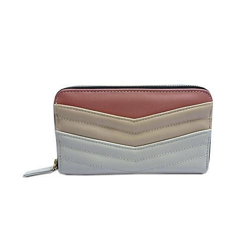 Quilted zip around wallet