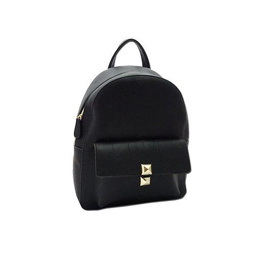 Front pocket PU backpack
