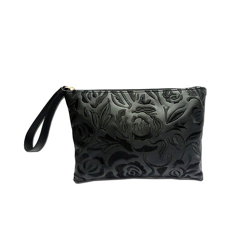Embroidery floral clutch