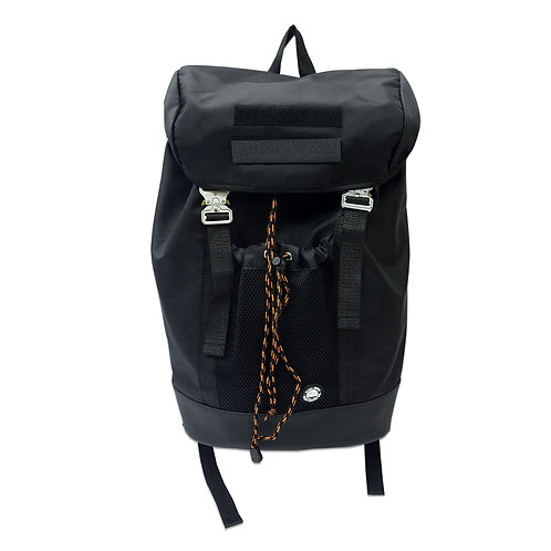 Mesh pocket satchel backpack