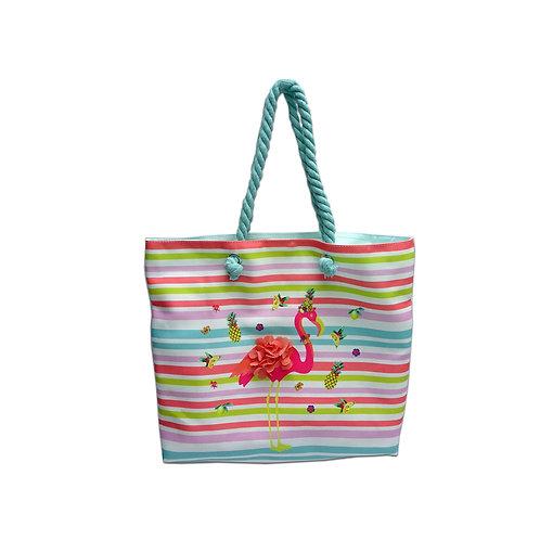 Flamingo beach shopper