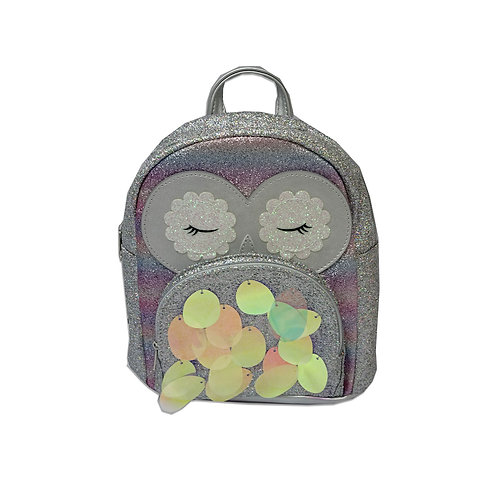 Mix metallic owl backpack