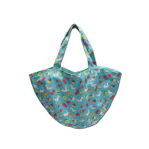 Floaty print beach bag