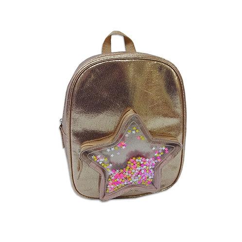 Star pocket tapped sequins backpack