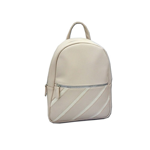 Stripe patch PU backpack