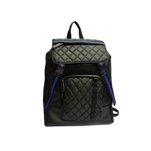 Quilted satchel backpack