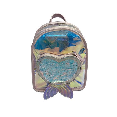 Heart pocket mermaid backpack