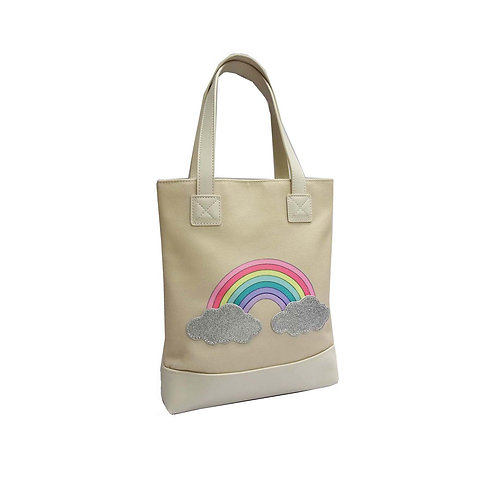 Rainbow printed shopper