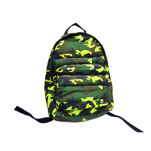 Printed quilted backpack