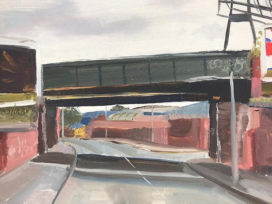 Gorton Rd- Beswick -Manchester - oil on board