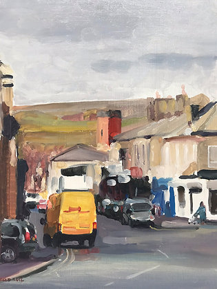 High Street Littleborough - oil on board