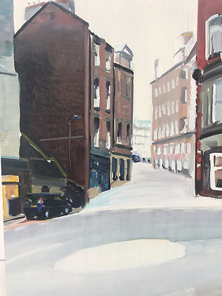 copy of Grey St Newcastle - oil on board