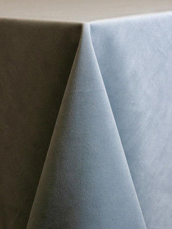 Velours bleu glacier