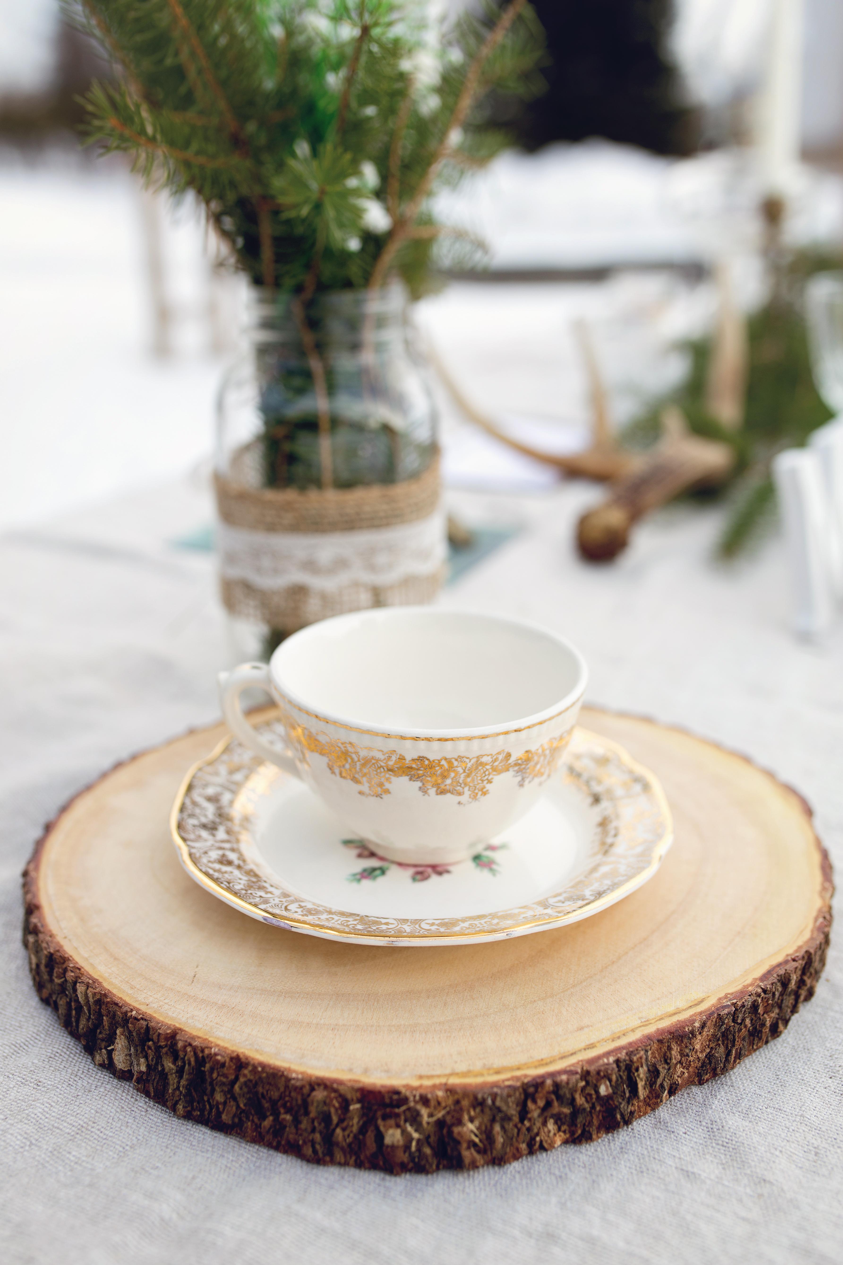 Tasse en porcelaine vintage