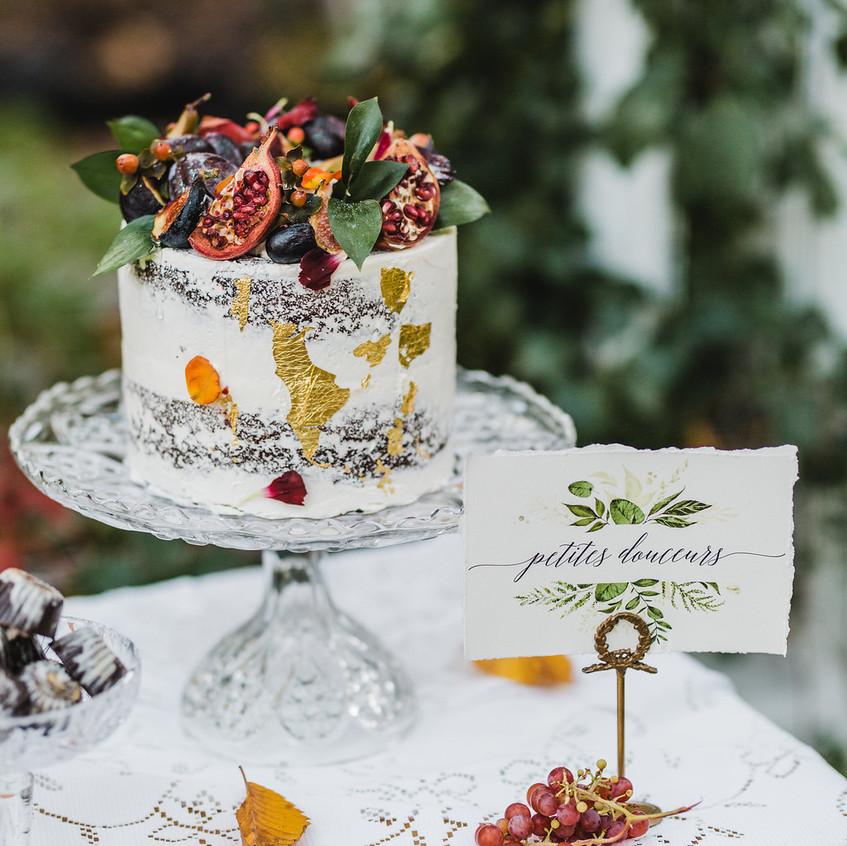 Mariage d'automne bohème romantique