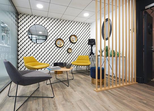 aménagemnt d'espace de travailn décoration, espace détent pour bureau convivial, aménagement d'espace de travail