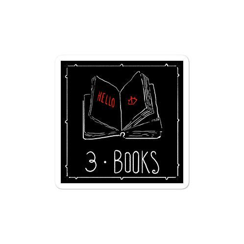 Episode 3 - Books 3x3 Sticker