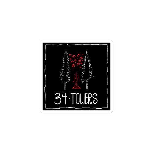 Episode 34 -  Towers - 3x3 Sticker