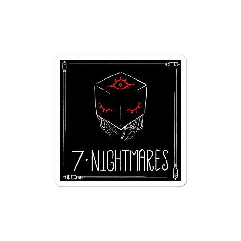 Episode 7 - Nightmares 3x3 Sticker