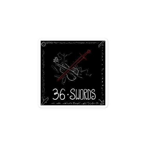 Episode 36 - Swords - 3x3 Sticker