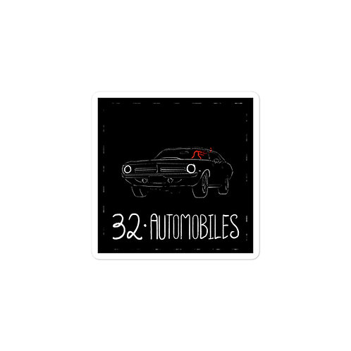 Episode 32 -  Automobiles - 3x3 Sticker