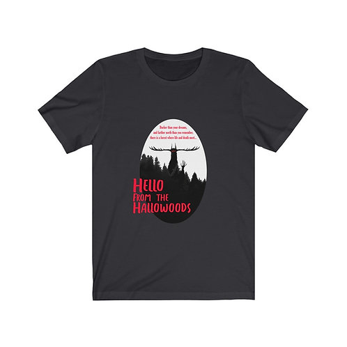 'Hello From The Hallowoods' Unisex T-shirt