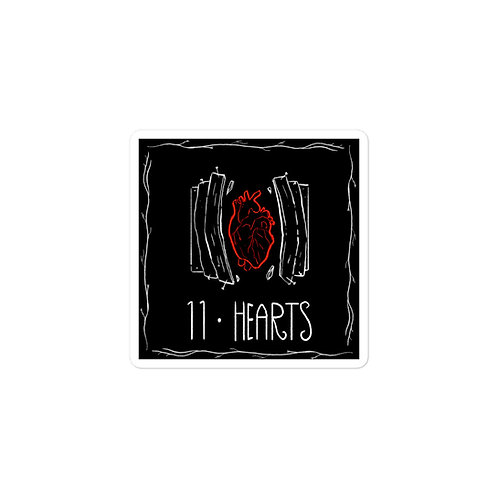 Episode 11 - Hearts - 3x3 Sticker