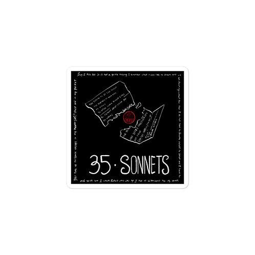 Episode 35 -  Sonnets - 3x3 Sticker