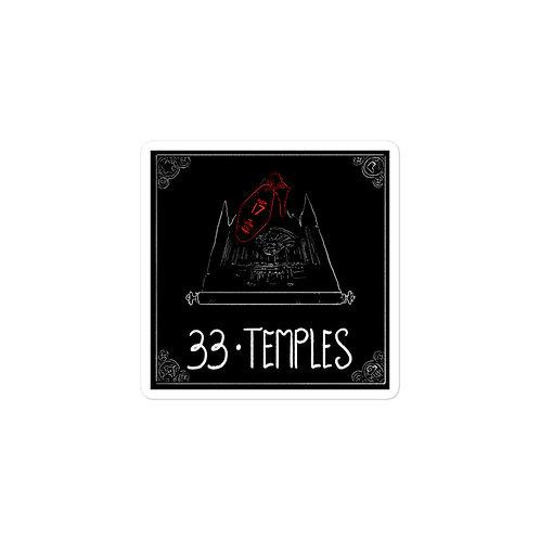Episode 33 -  Temples - 3x3 Sticker